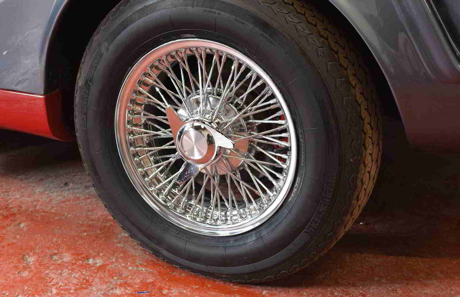 Front laced wire wheels