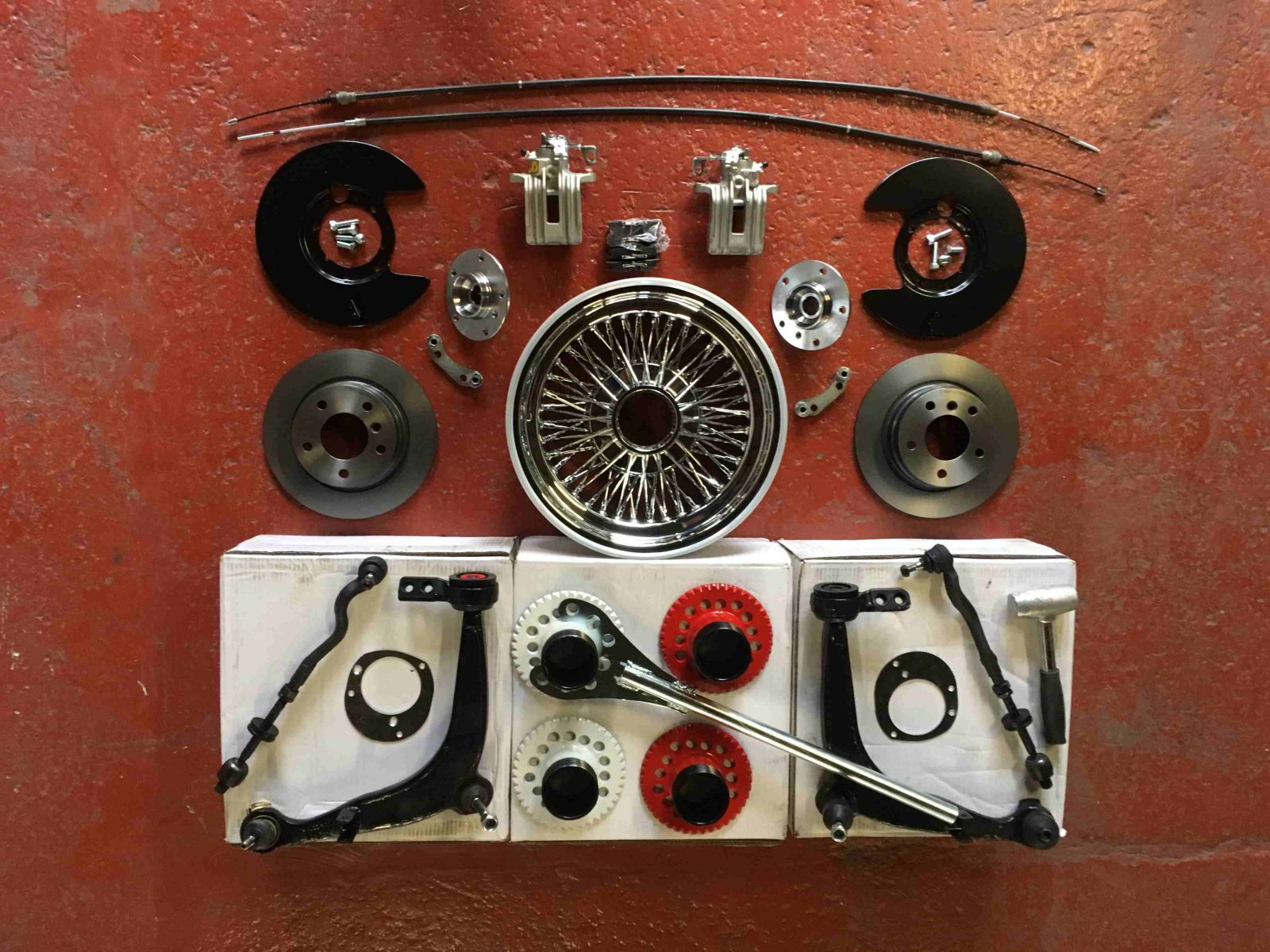 Wire wheels 15×7 Dished track mod kit