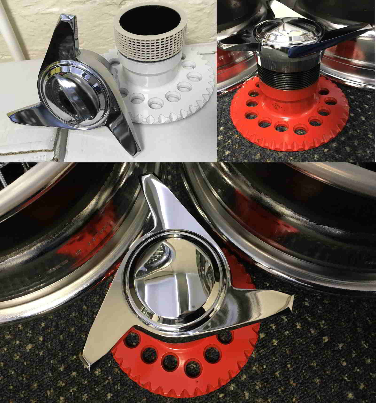 Wheel spinners and hub adaptors